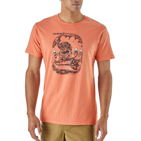 Patagonia Nut vs. Piton Organic T-Shirt Men Quartz Coral